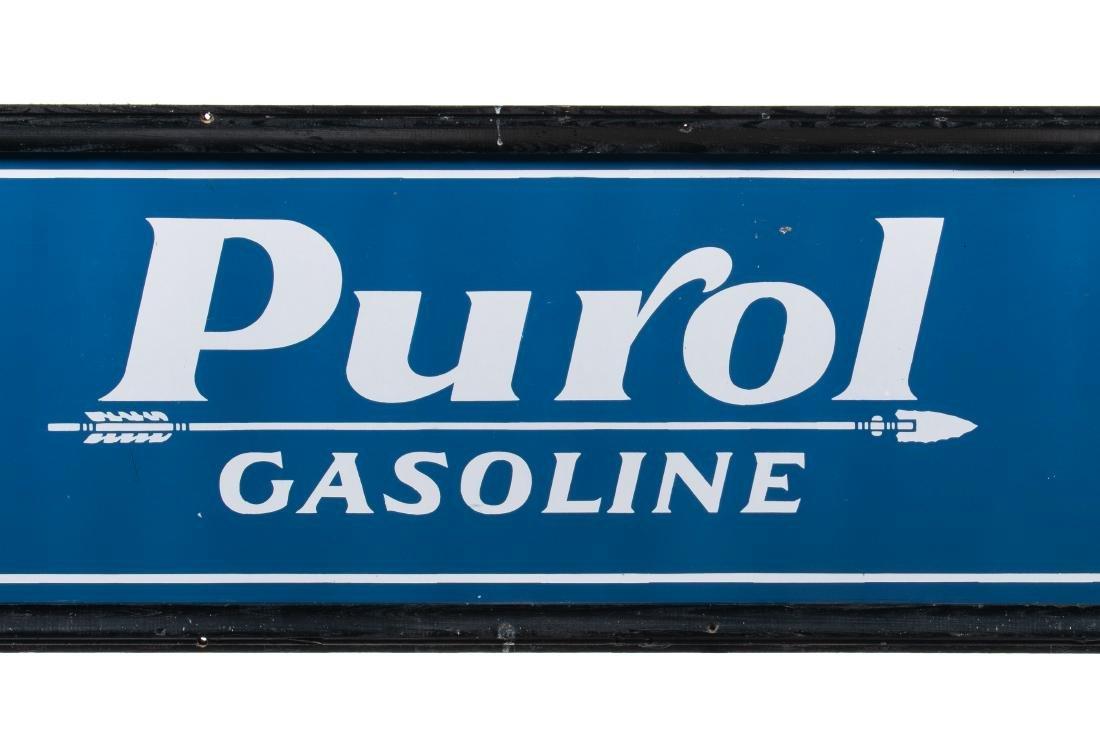 Pure Oil Purol Gasoline Porcelain Sign - 3