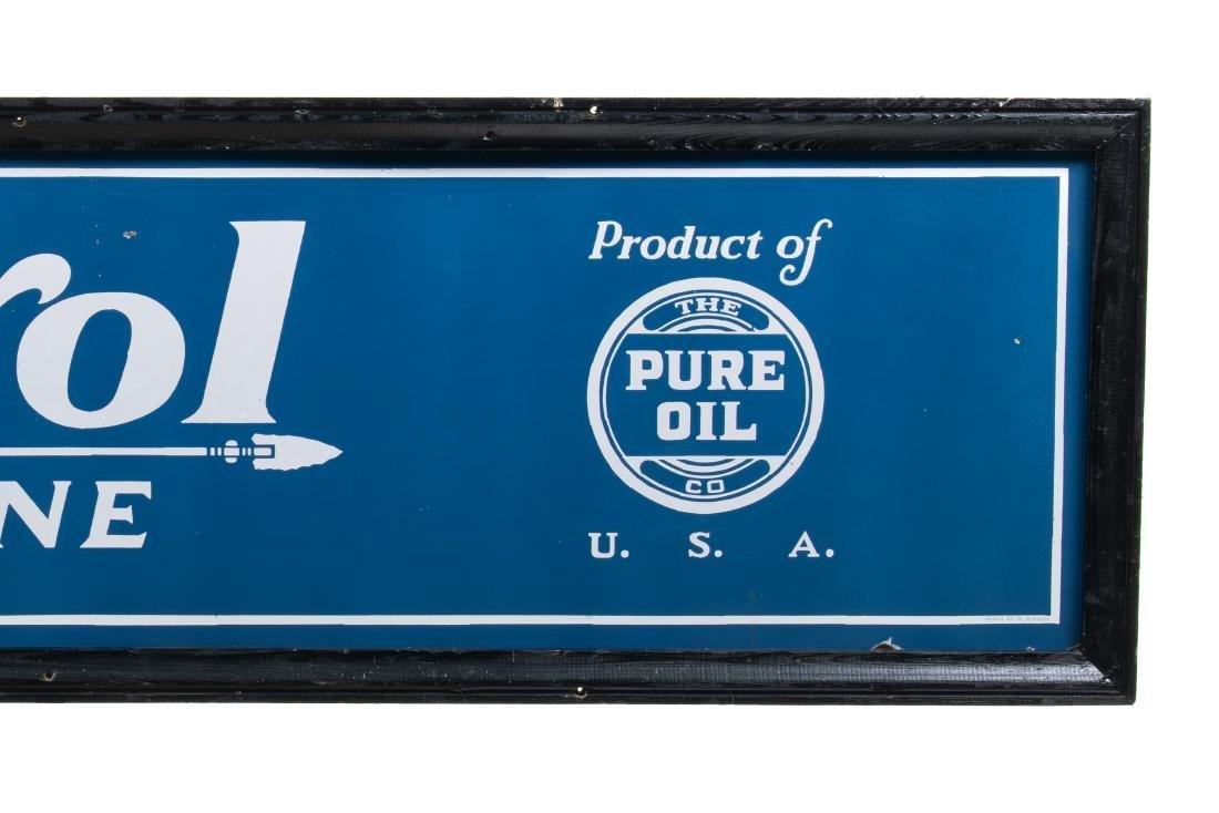 Pure Oil Purol Gasoline Porcelain Sign - 4