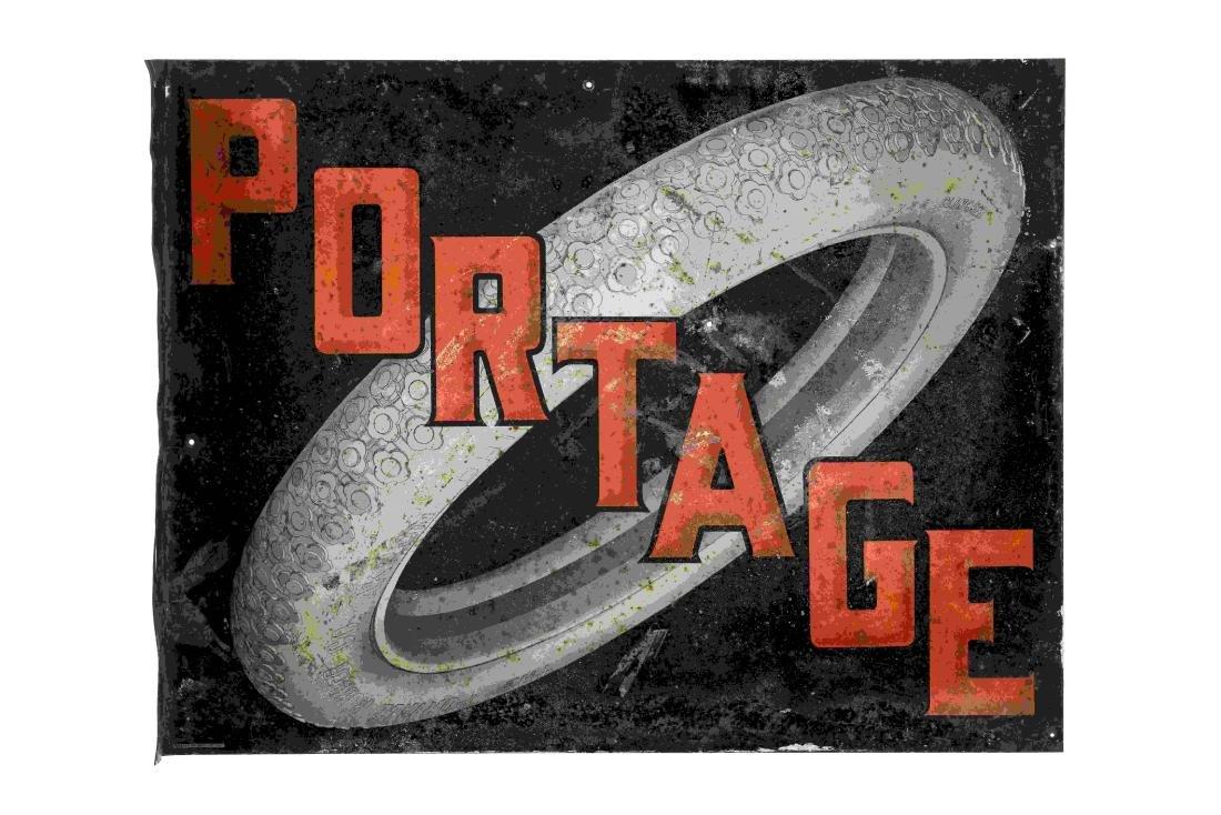 Portage Tires Tin Flange Sign
