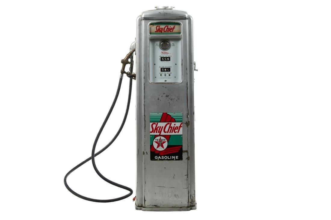 Tokheim 39 Tall Sky Chief Gas Pump Unrestored