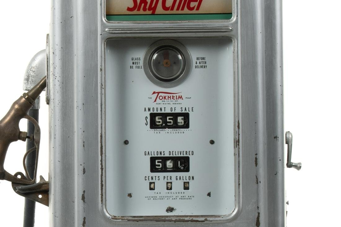 Tokheim 39 Tall Sky Chief Gas Pump Unrestored - 3