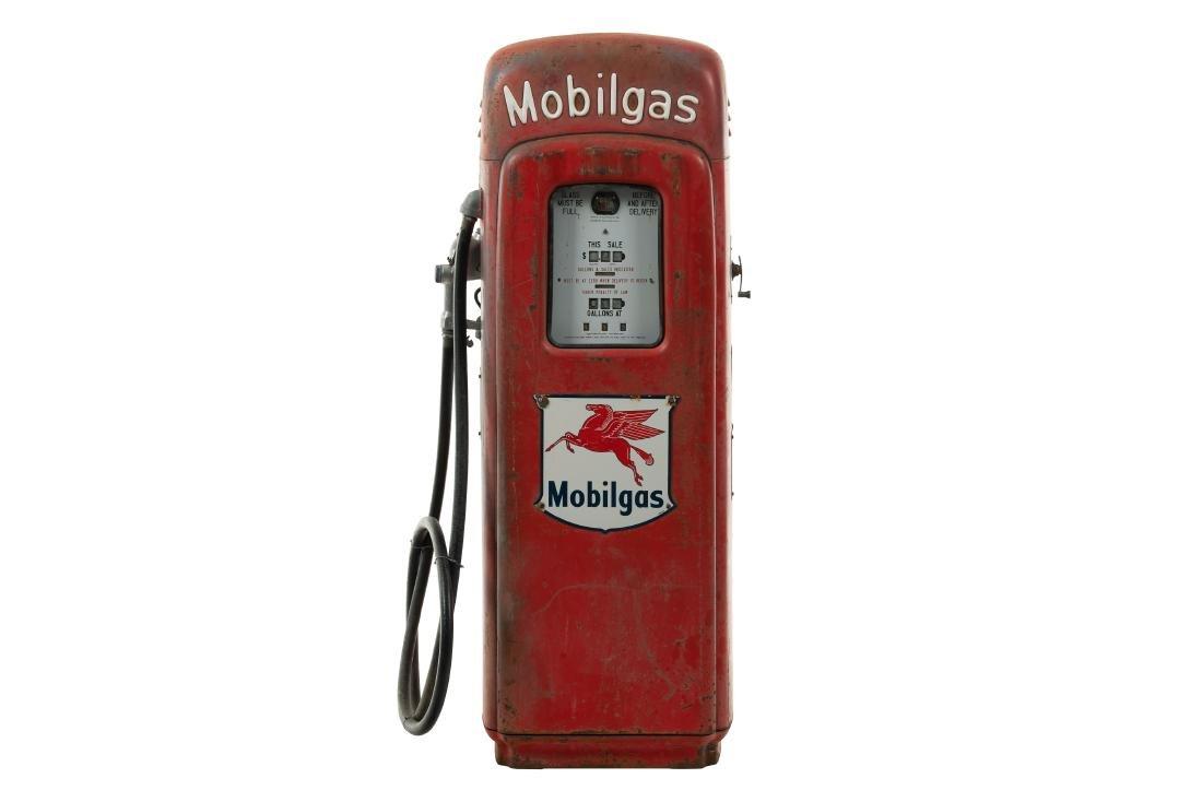 M&S Model 80 Mobilgas Script Top Gas Pump