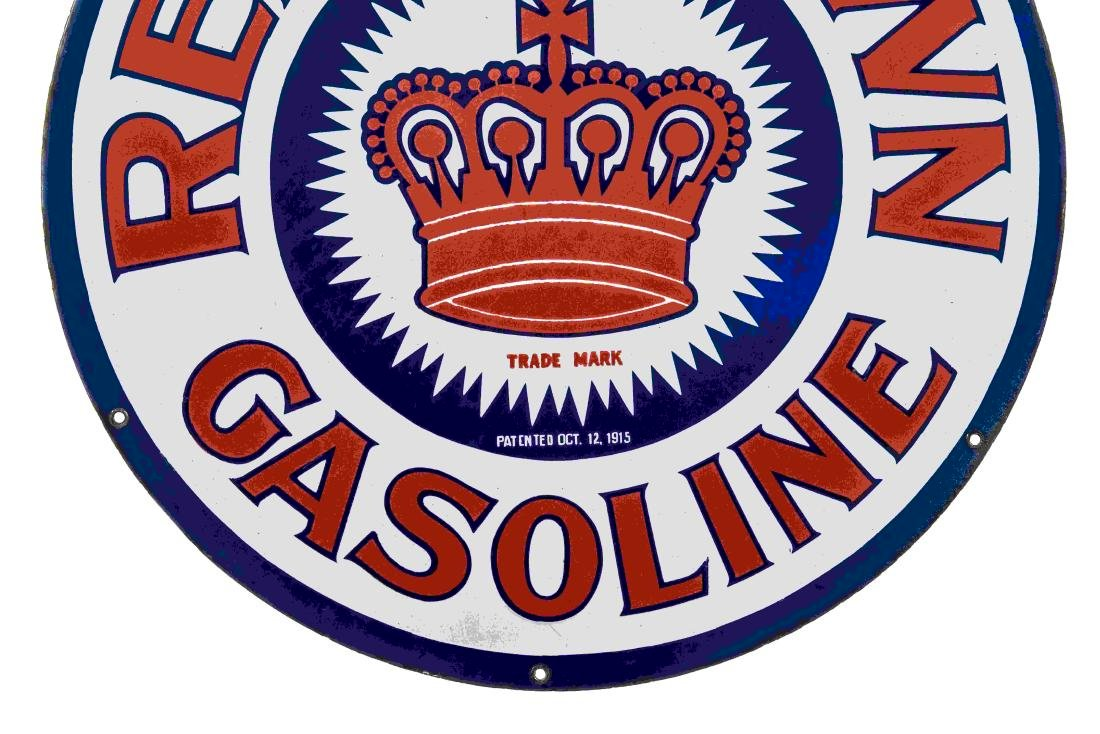 Early Red Crown Gasoline Porcelain Sign - 3
