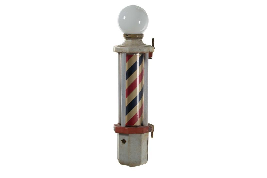 Koken Key Wind Porcelain Barber Pole