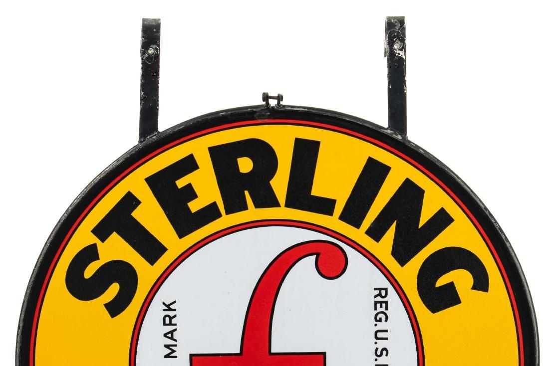 Sterling Gasoline Porcelain Sign In Frame - 2
