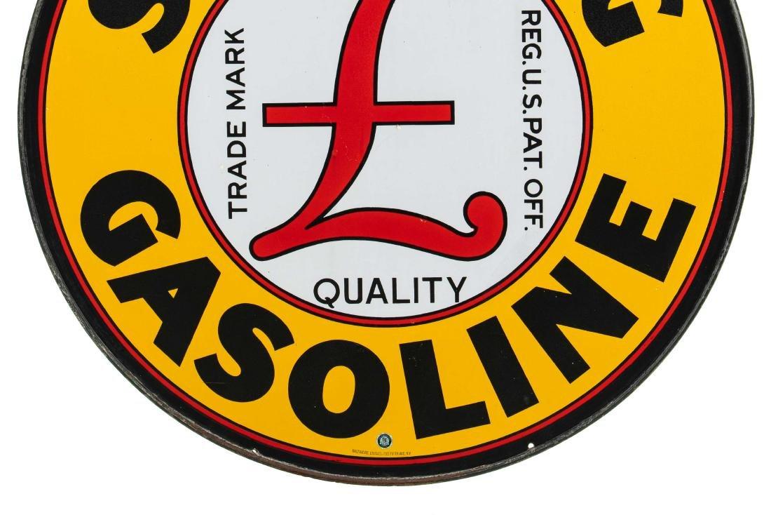Sterling Gasoline Porcelain Sign In Frame - 3