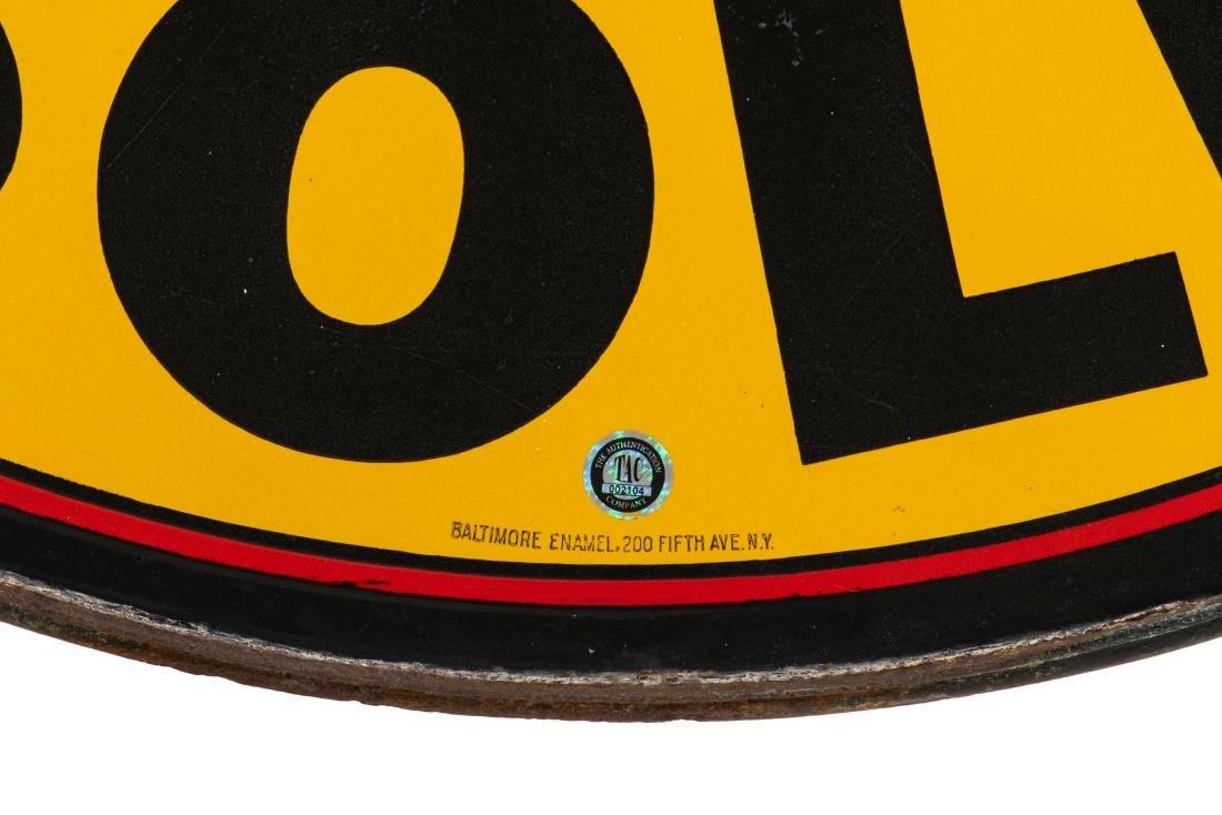 Sterling Gasoline Porcelain Sign In Frame - 4