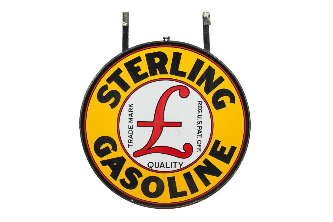 Sterling Gasoline Porcelain Sign In Frame - 5