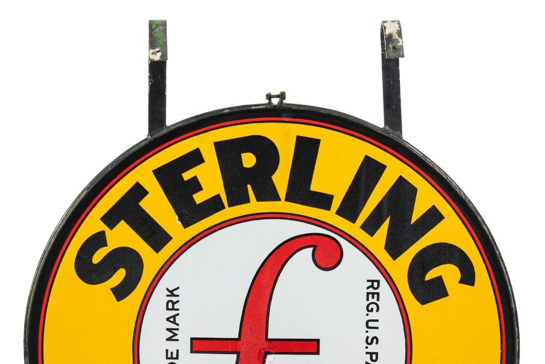 Sterling Gasoline Porcelain Sign In Frame - 6