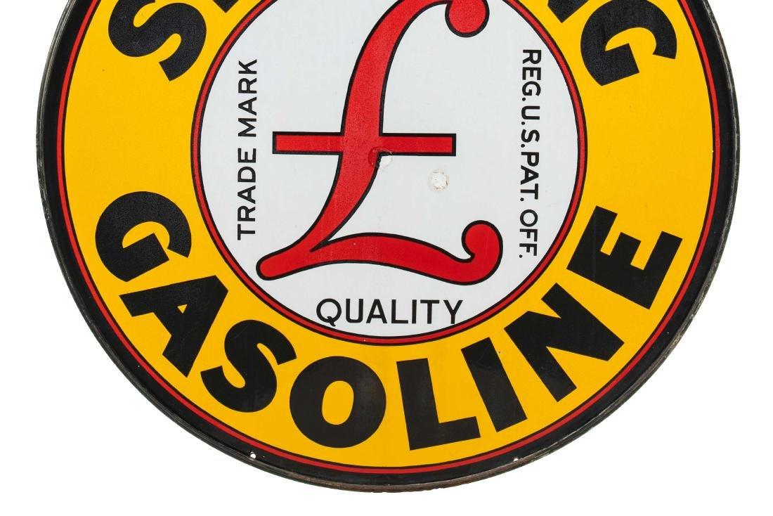 Sterling Gasoline Porcelain Sign In Frame - 7