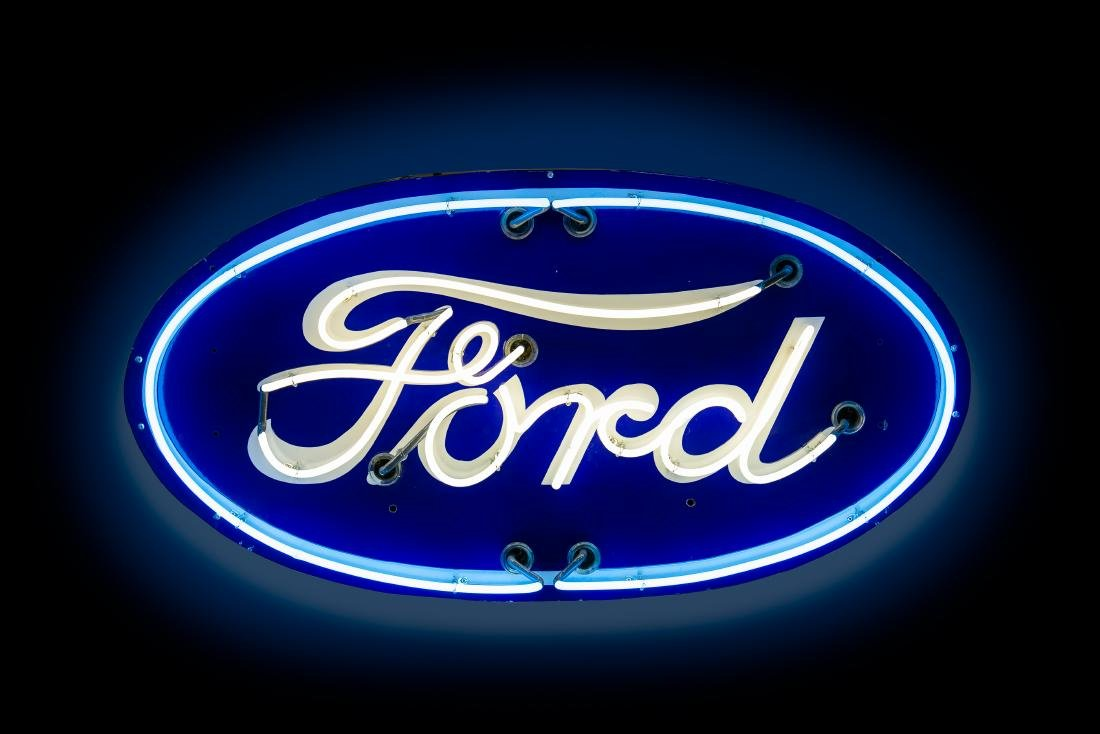 Ford Oval Porcelain Neon Sign