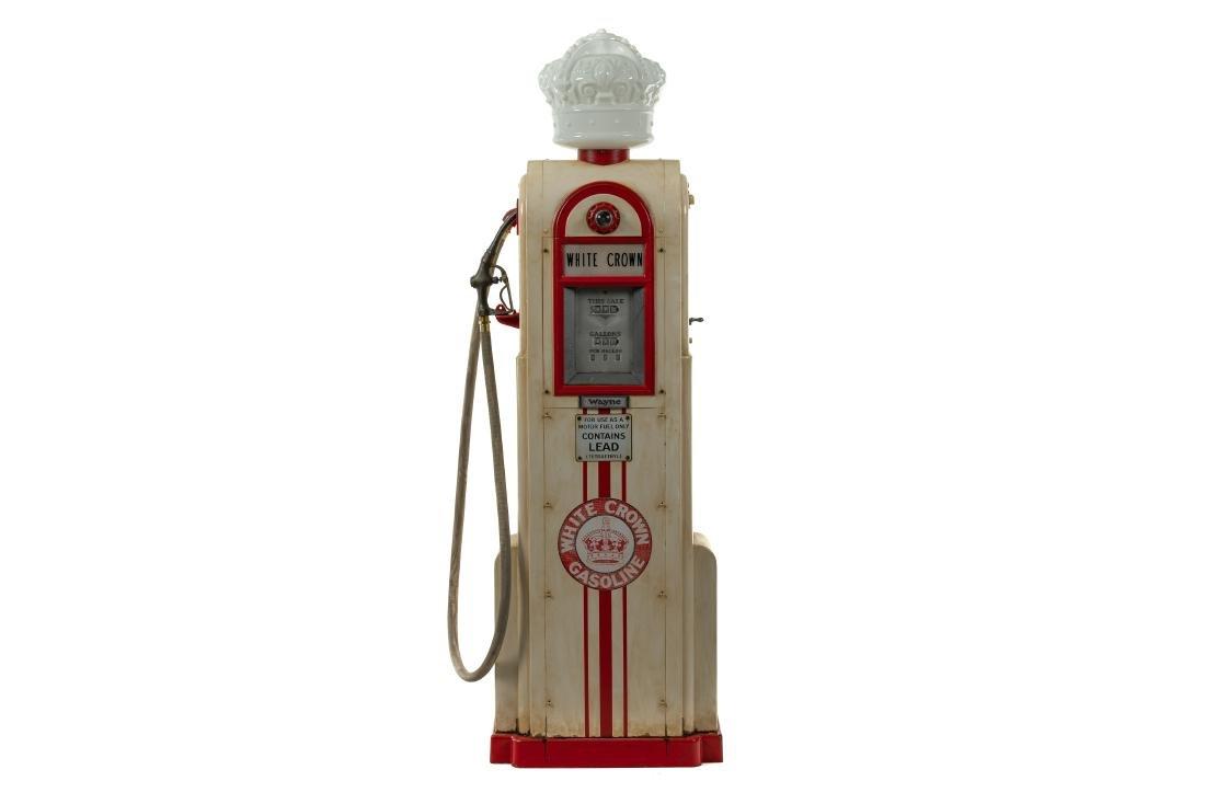Wayne 60 White Crown Gas Pump Restored