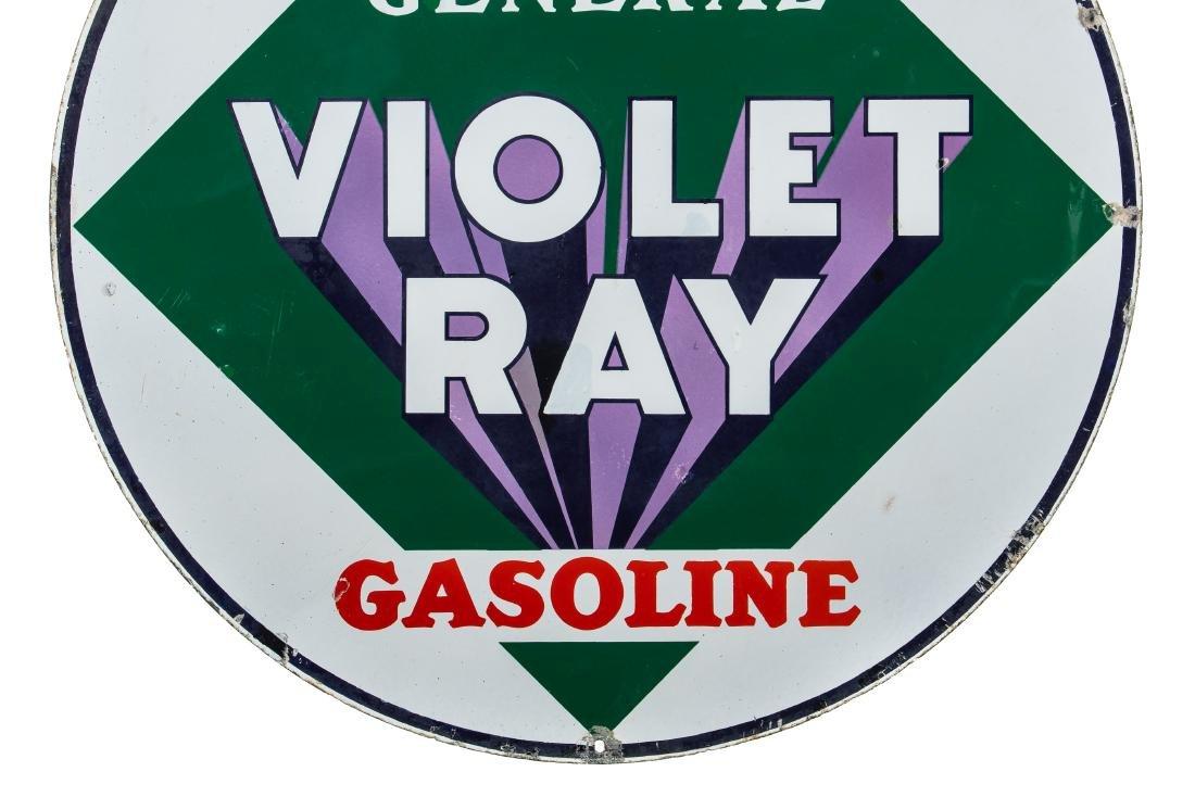 General Violet Ray Gasoline Porcelain Sign - 3