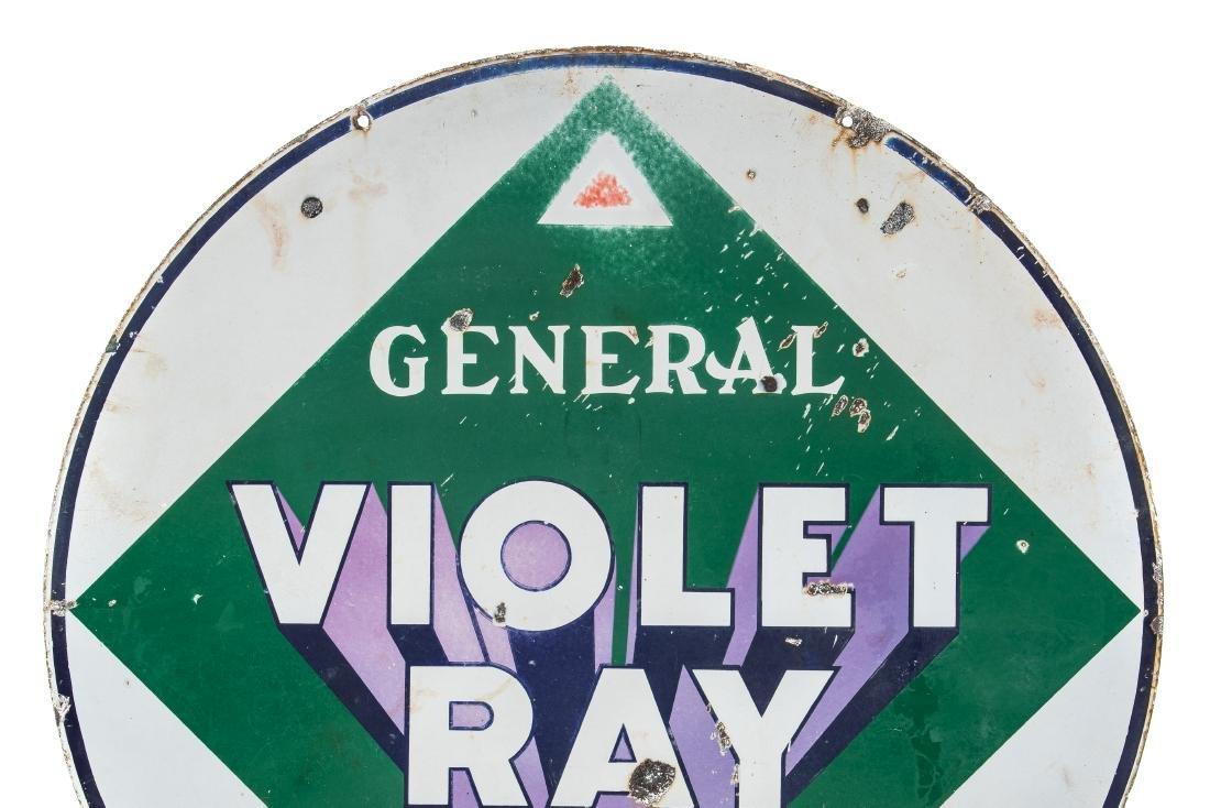 General Violet Ray Gasoline Porcelain Sign - 5