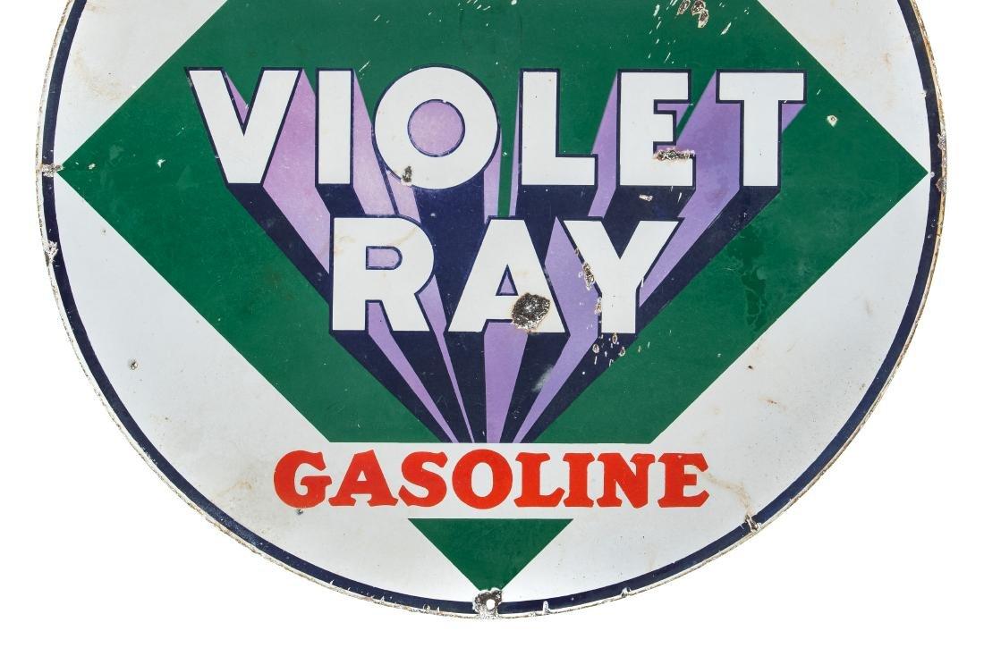 General Violet Ray Gasoline Porcelain Sign - 6