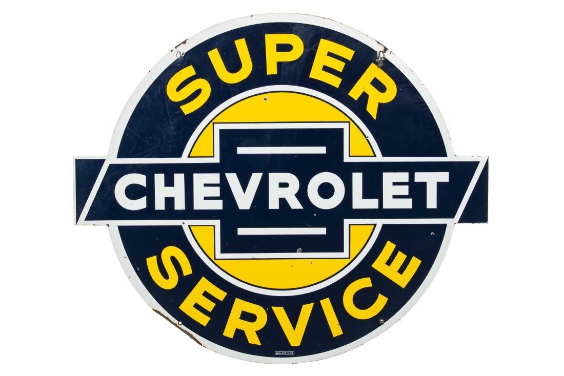 Chevrolet Super Service Porcelain Sign