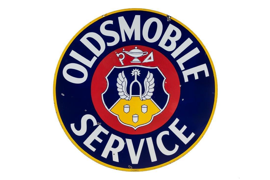 Oldsmobile Service Porcelain Dealership Sign