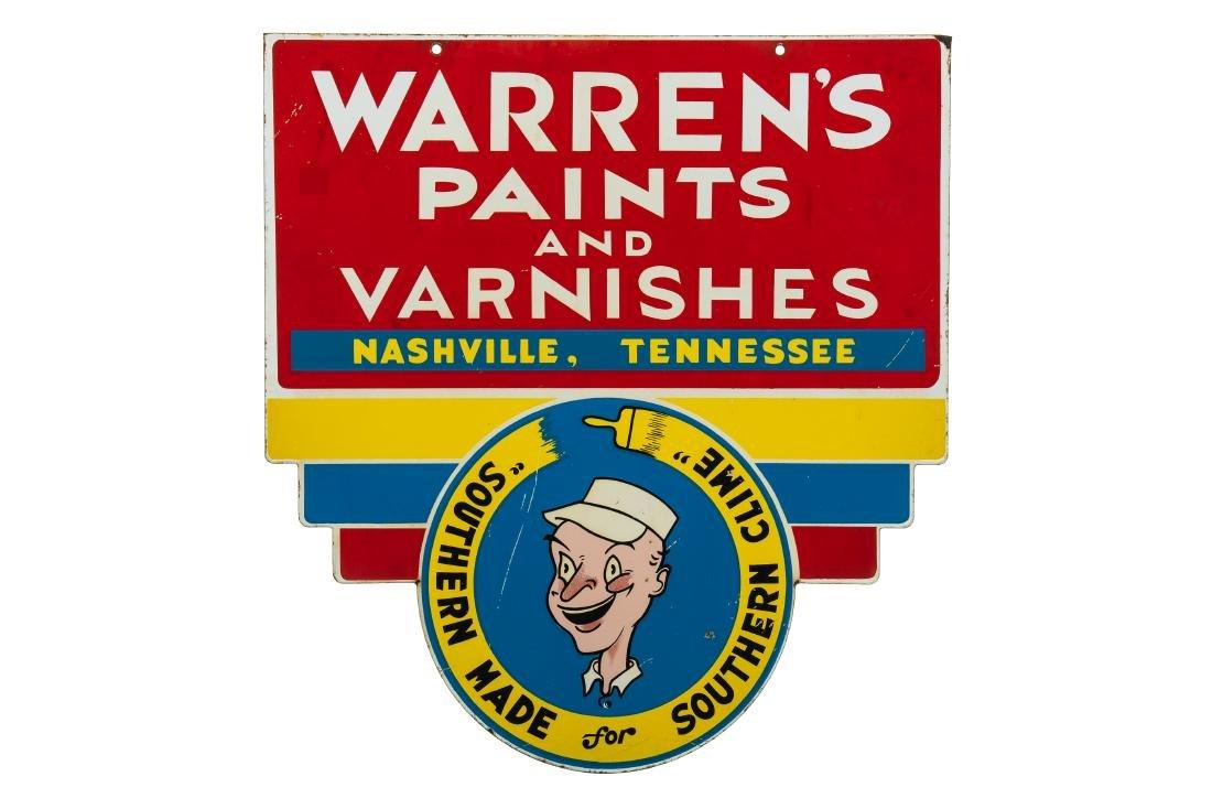 Warren's Paints & Varnishes Porcelain Sign
