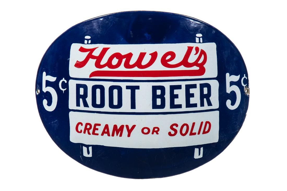 Howel's Root Beer Porcelain Sign