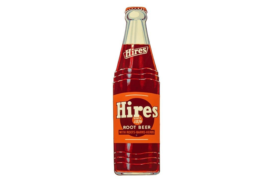 Hires Root Beer Bottle Tin Sign