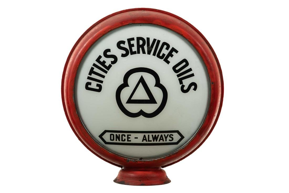 """Cities Service Oils Once-Always Globe 16.5"""""""