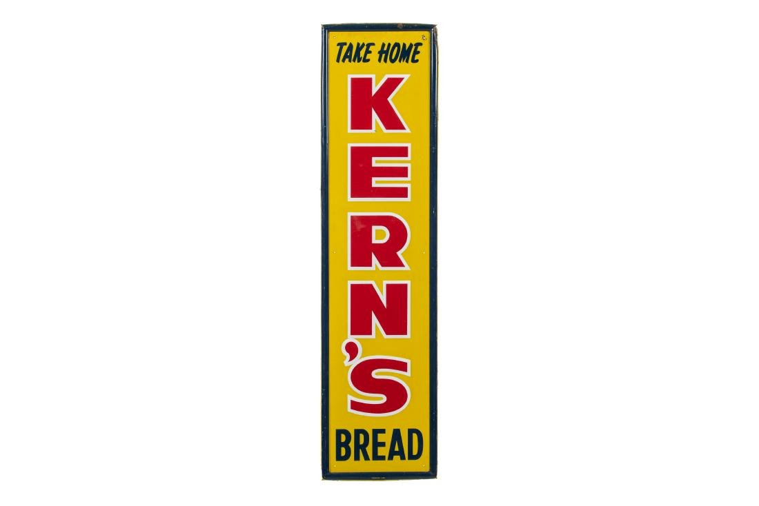 Take Home Kern's Bread Vertical Tin Sign