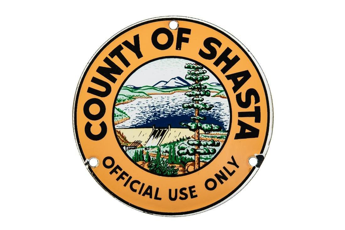 County Of Shasta Marker Sign