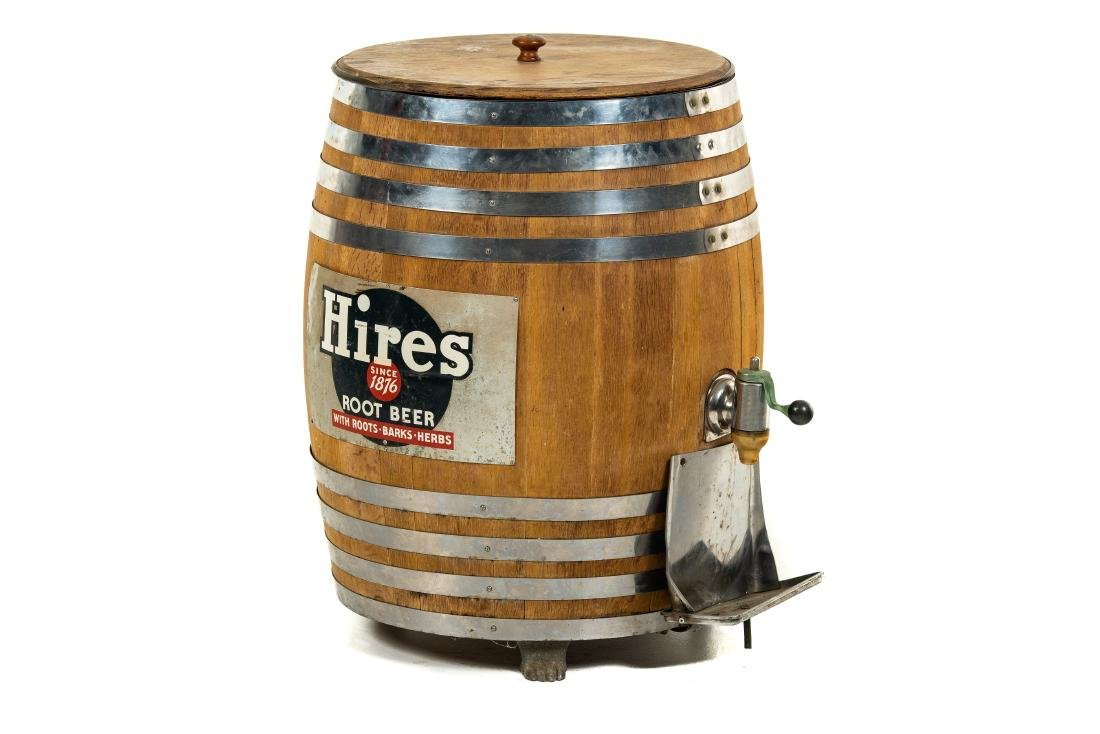Hires Root Beer Wooden Barrel Dispenser
