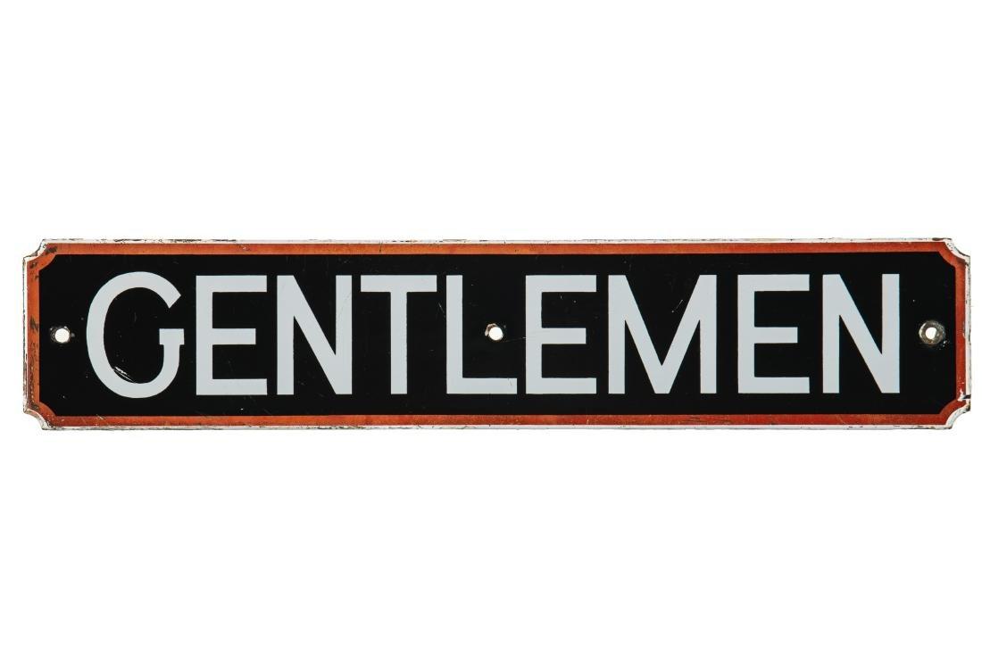 Signal Gentleman Rest Room Porcelain Sign