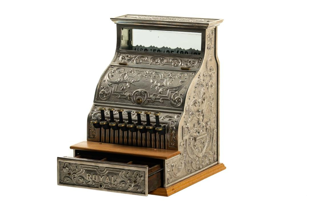 The Sundwell Co. Royal Nickel-Plated Cash Register