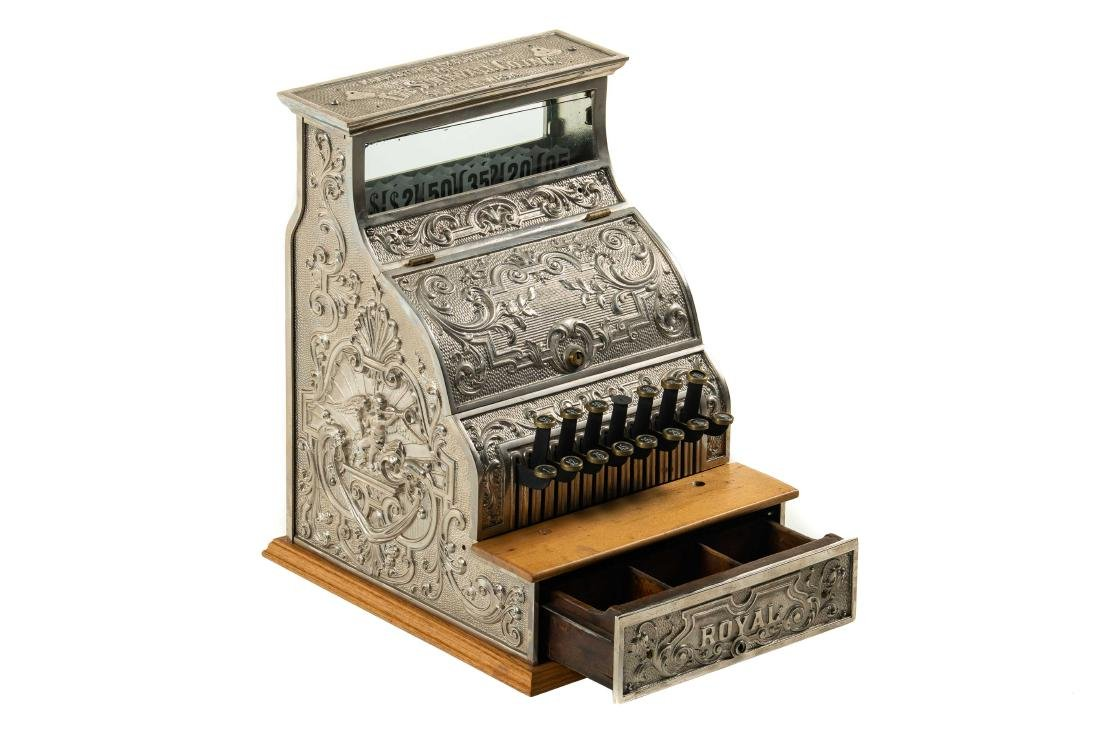 The Sundwell Co. Royal Nickel-Plated Cash Register - 2