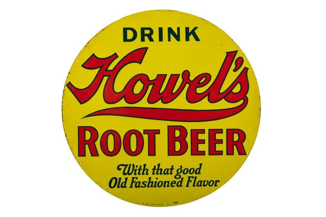Howel's Root Beer Tin Sign