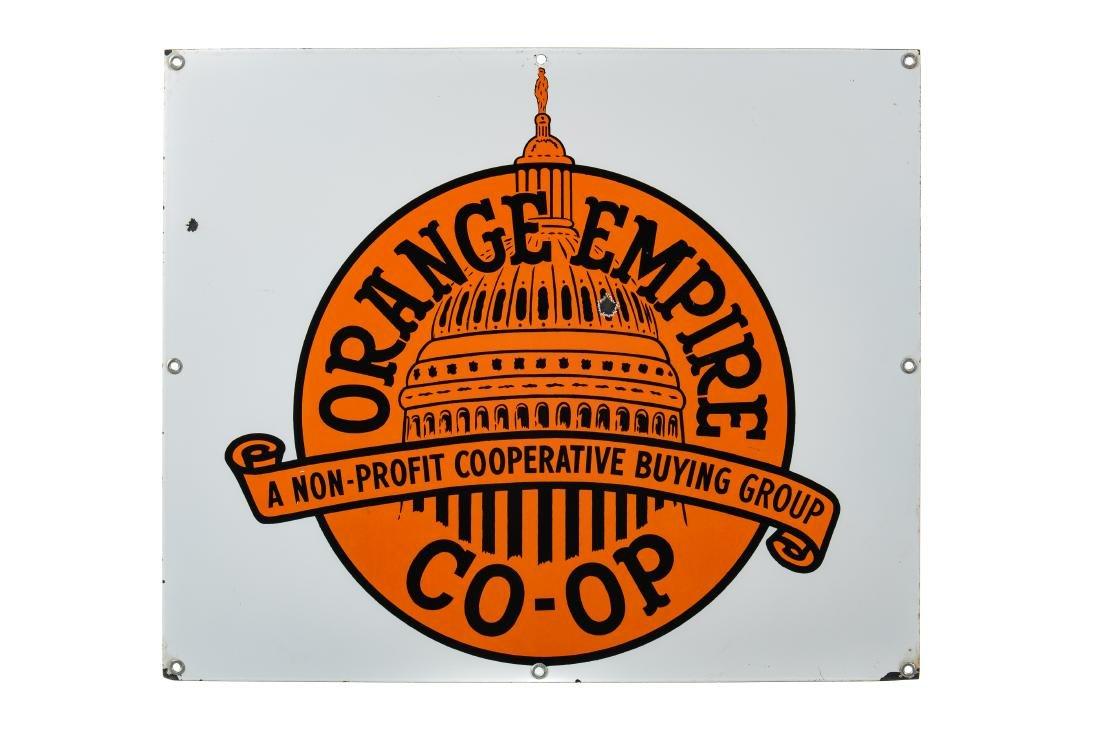 Orange Empire CO-OP Porcelain Sign