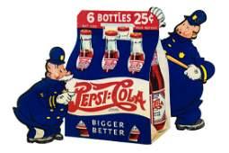 Pepsi Cola Bigger Better Sign