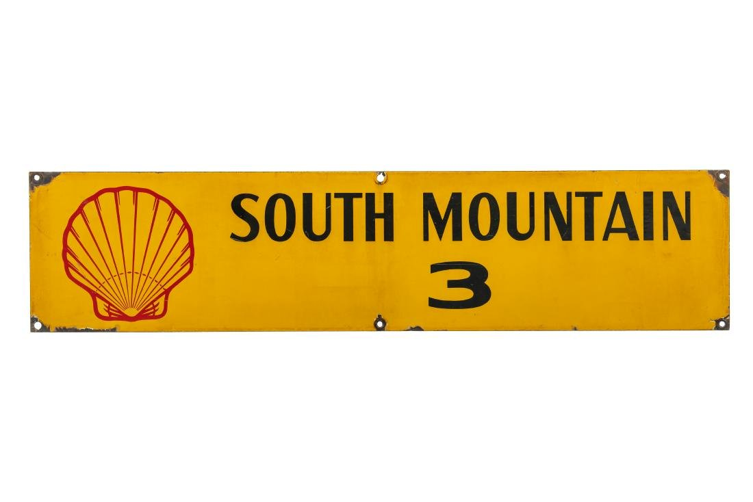 Shell South Mountain Oil Well Porcelain Sign