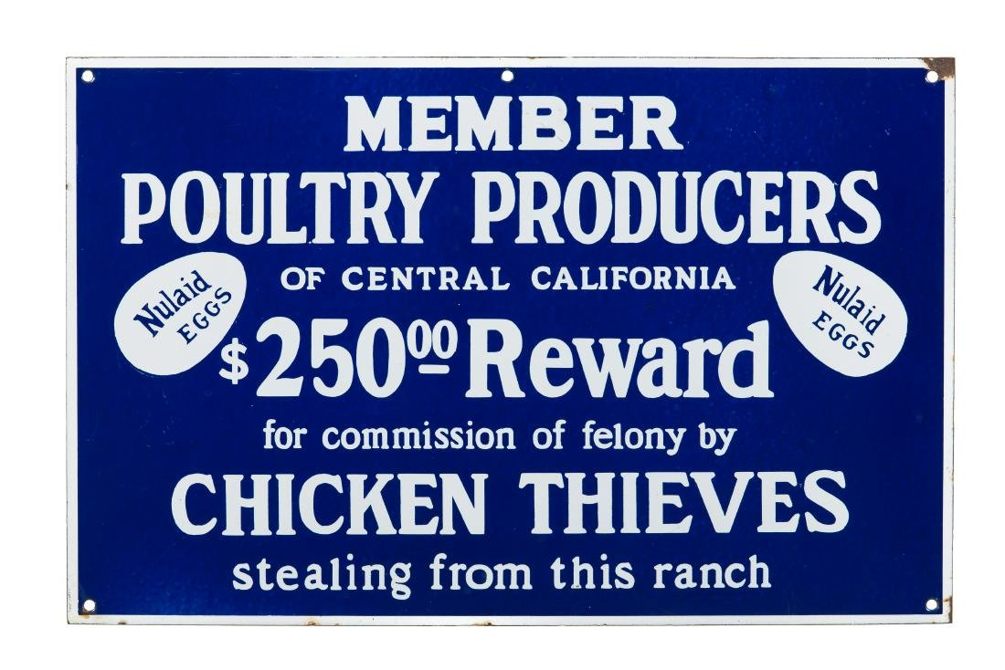 Poultry Producers Of California Porcelain Sign