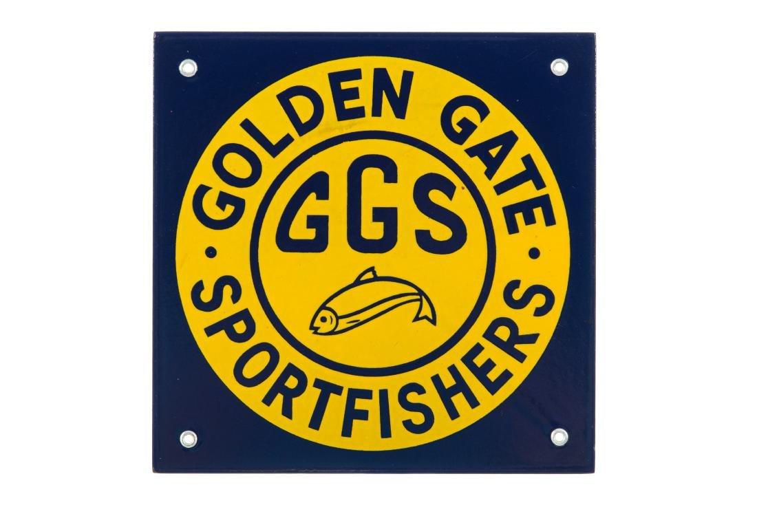 California Golden Gate Sportfishers Porcelain Sign