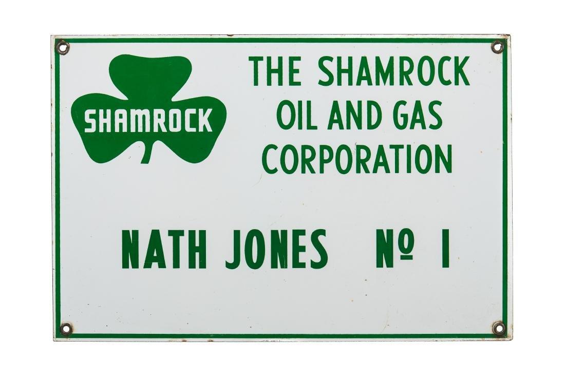 Shamrock Oil Porcelain Sign