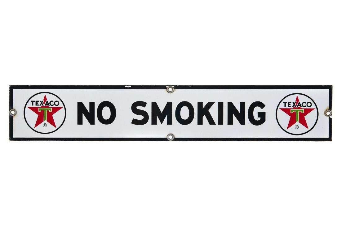Texaco No Smoking Porcelain Sign