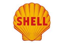 Shell Pecten Porcelain Sign Sharks Tooth