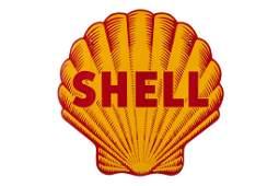 Shell Oil Pecten Porcelain Sign Tiger Striped