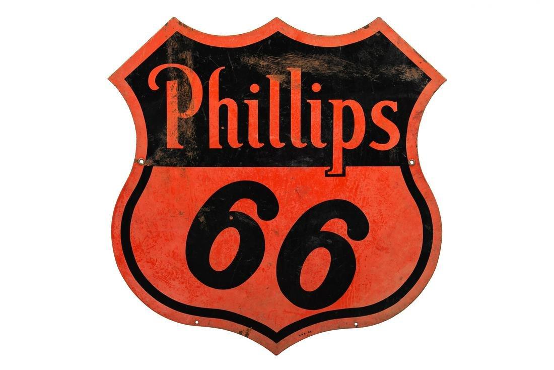 Phillips 66 Gasoline Porcelain Sign