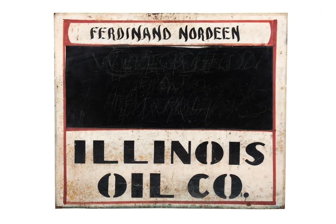 Illinois Oil Co Tin Sign