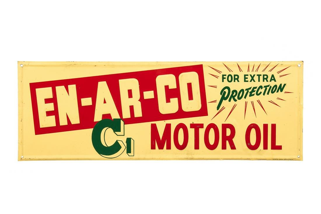 National Enarco C1 Motor Oil Tin Sign