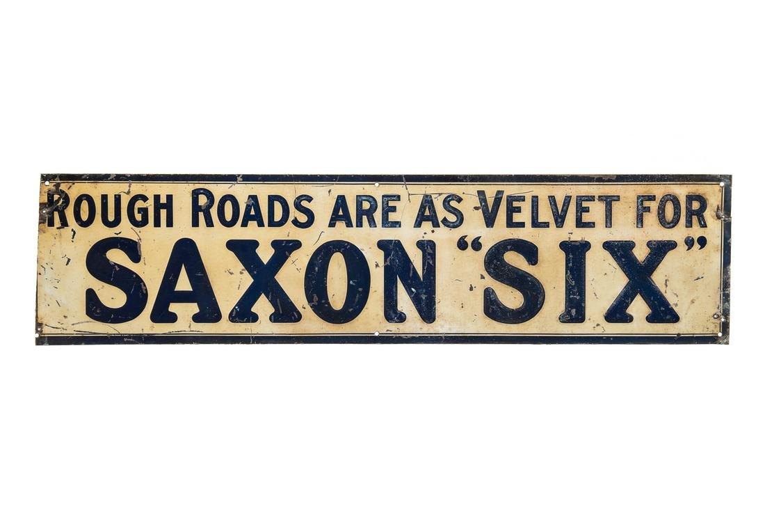 Early Saxon Six Tin Sign