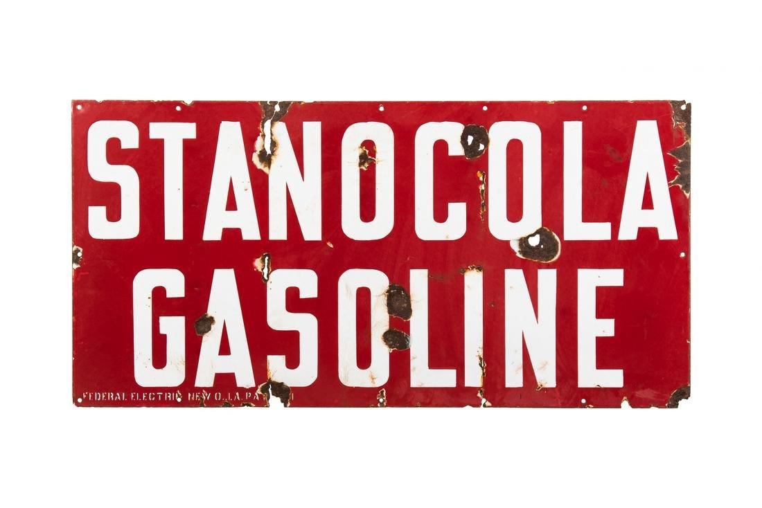 Early Standard Stanocola Gasoline Porcelain Sign