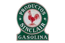 Rare Sinclair Productos Gasoline Porcelain Sign