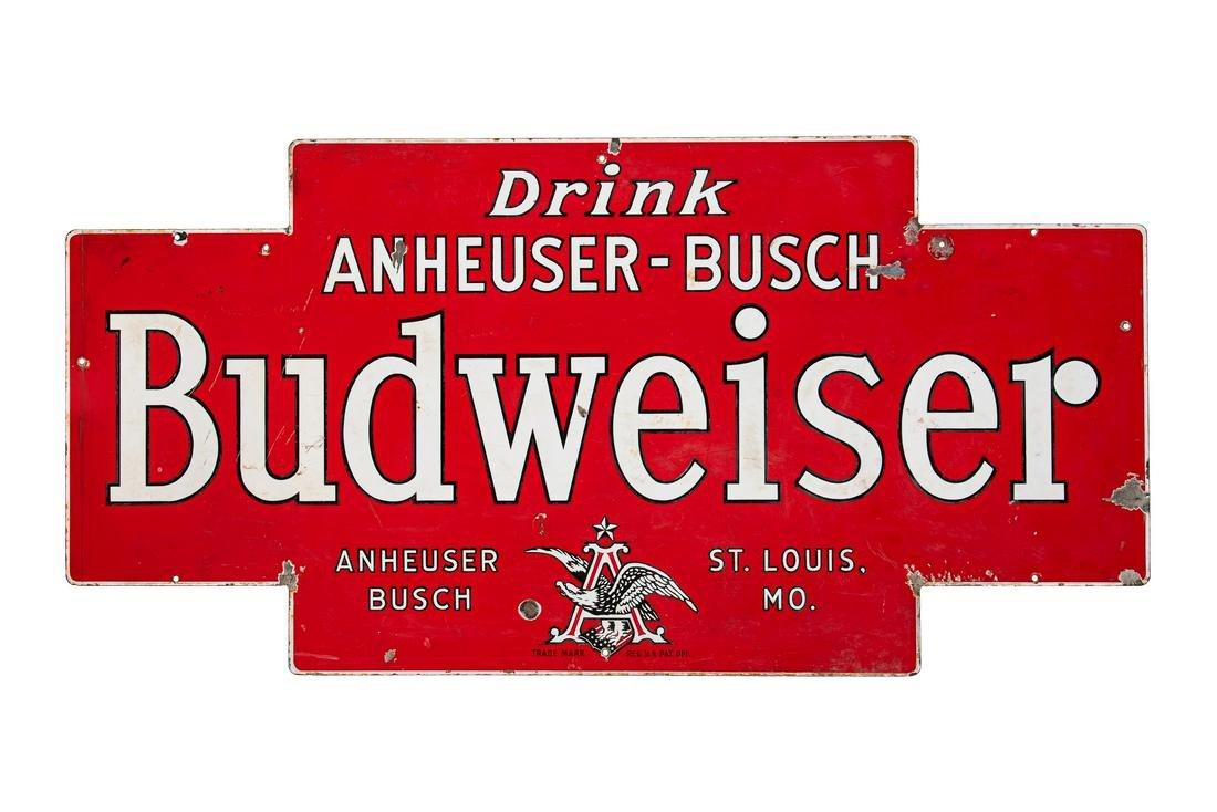 Early Budweiser Porcelain Sign