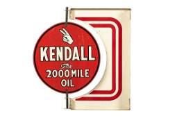 Kendall Motor Oil Spinning Flange Sign