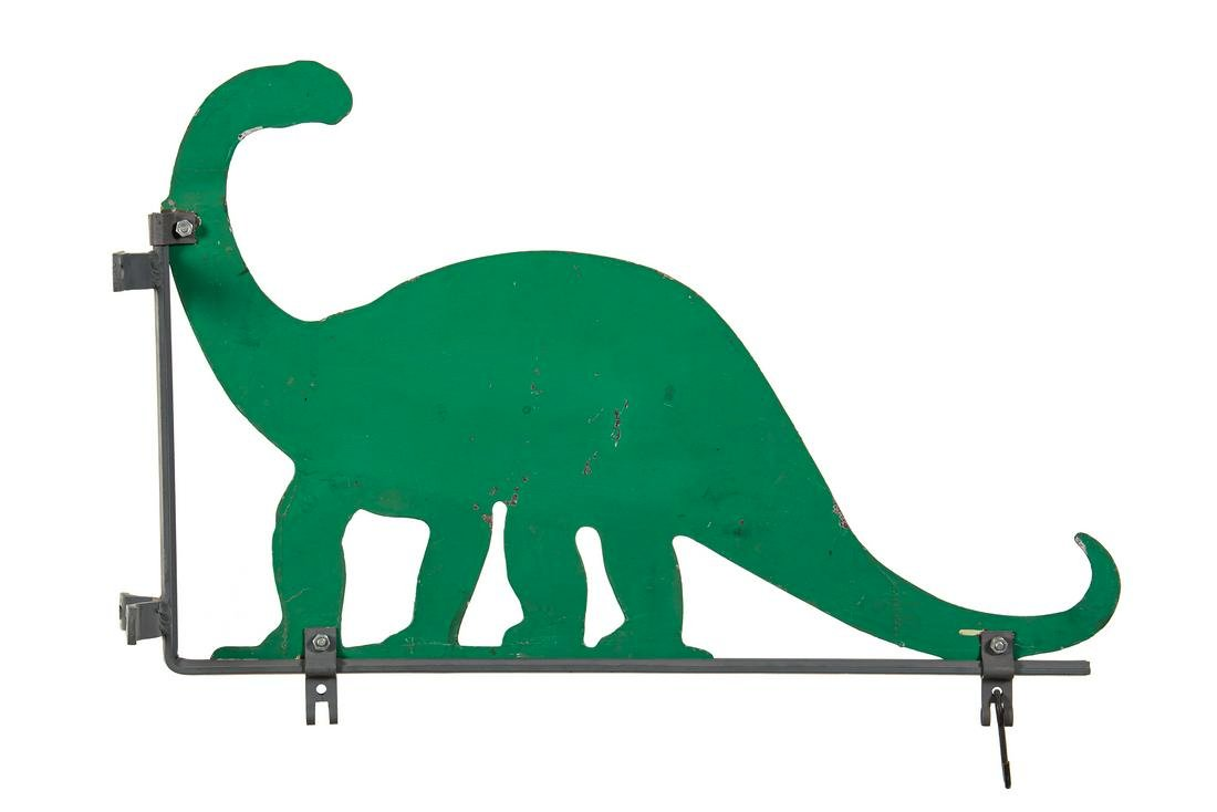Sinclair Dino Tin Sign With Sign Hanging Bracket